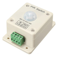Neue Ankunft DC12-24V 8A Infrarot PIR Schalter Bewegungssensor Auto ON / OFF Für LED-Licht Licht Einfach zu installieren