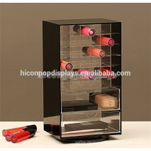 Lipstick Wholesale Merchandising Supply Custom Rotating 2-Way Acrylic Cosmetic Shop Equipment For Sale