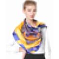 Fantastic design atacado lenço mágico de Natal cetim de seda pura impresso cachecol