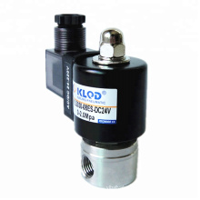 Direct Acting Long Time Working High Pressure  PTFE Sealing KLS Series Stainless Steel Solenoid Valve With Energy Saving Coil