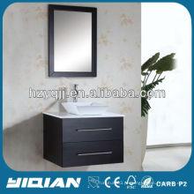 China Design simples montado na parede Gabinete de alto brilho MDF Gabinete de banheiro