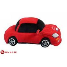 EN71&ASTM standard red race car plush stuffed