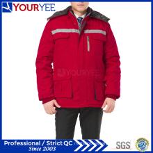 Ropa de trabajo de invierno baratos uniforme de trabajo con cinta reflectante (YMU122)