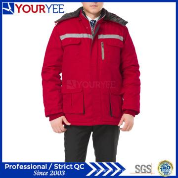 Недорогая рабочая зимняя теплая рабочая униформа с отражающей лентой (YMU122)