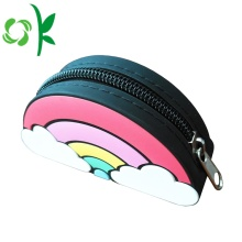 Rainbow Shape Silicone Waterproof Zipper Coin Bag Torebka