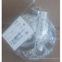 Boule de boule de verre de noël claire avec des bijoux