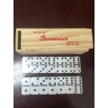 Travel domino game set with Wooden box