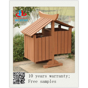 wood plastic composite recycle dustbin