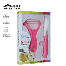 Couteau de cuisine en céramique et éplucheur 2PCS