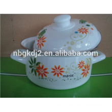 enamel cookware pot with metal lid enamel cookware pot with metal lid  product name :enamel cookware pot with metal lid