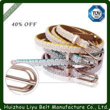 Leather Needlepoint Belt
