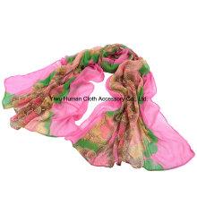 2016 moda impreso bufanda larga para las mujeres