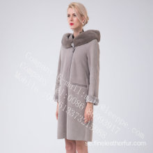 Women Bias Zipper Spain Merino Shearling Overrock