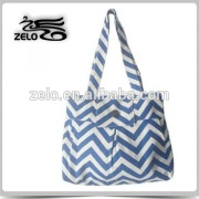 Ladies' standard size canvas tote bag leisure bag