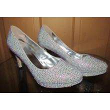 Nova primavera coleção de salto alto diamantes mulheres sapatos (hyc02-1548)