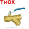 brass color long handle outer wire gas ball valve