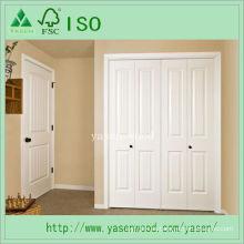 Puerta interior compuesta de madera blanca imprimada