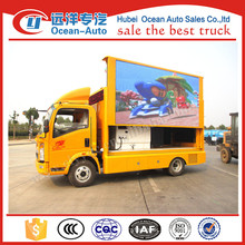 China HOWO advertising mobile led screen truck , display screen with P6, P8, P10 screen for sale