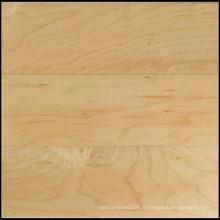 Plancher de bois franc en érable massif naturel