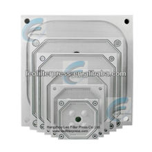 Placa de prensa de filtro Leo, filtro de diferente tamaño Presione las placas de filtro para operación de prensa de filtro empotrable de membrana / cámara