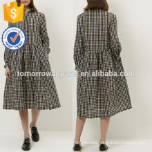 New Fashion Black And White Gingham Check Dress Manufacture Wholesale Fashion Women Apparel (TA5227D)