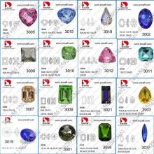 Piedra de lujo cristalina al por mayor del punto detrás para la joyería que hace