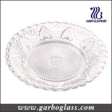 Glass Dinner Plate with Charm Price (GB2301LH)