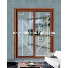 Portas deslizantes e janelas de vidro em grelha de estilo francês