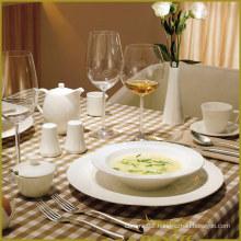 13PCS White Porcelain Dinner Set Aging Dent Series