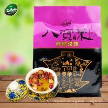 Chinesische Kräuter-Blumen-Tee enthält hauptsächlich Rosenknospe und Goji-Beere