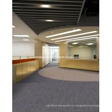 Azulejos de alfombra de nylon de oficina con respaldo de PVC