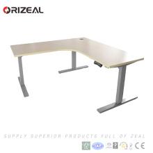 2018 meilleur vente moteur table élévatrice deux jambes table de bureau réglable en hauteur électrique avec vitesse 40mm / s
