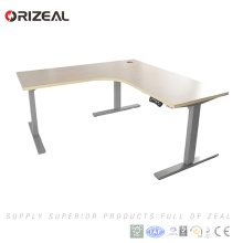 2018 best selling motor lift table two legs electric height adjustable office table with speed 40mm/s