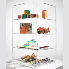 4 Tier Clear Acrylic Boxes Display for Toys