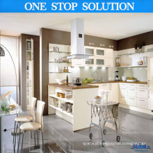Gabinetes de cozinha de alto brilho brancos deliciosos