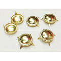 13mm Convex Nailheads, Gold Metal Brads