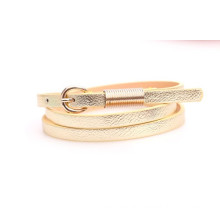 Skinny fashion woman PU belt