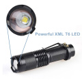 T6 LED Small Pocket Torch Light Tactical Zoomable LED Flashlight with Clip