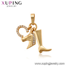 34219 xuping environnement cuivre animal cheval pendentifs charmes