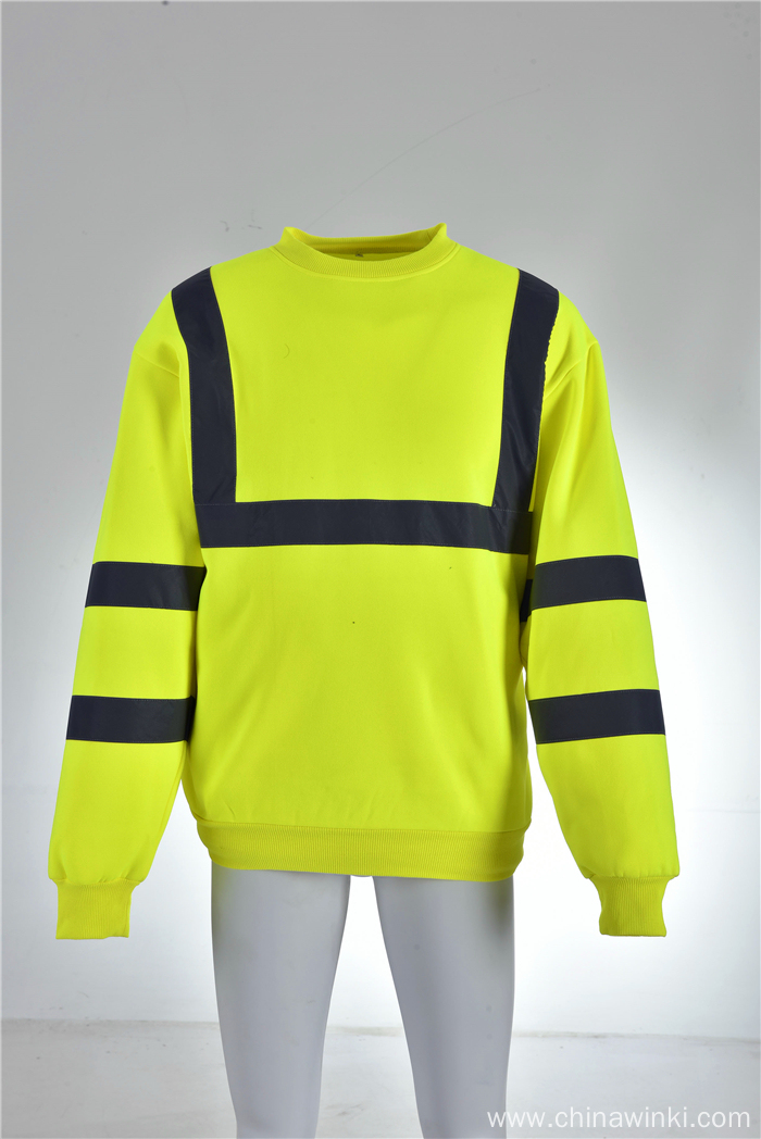 Hi Vis Shirt ANSI Class 3 Reflective Safety Long Sleeve Shirt