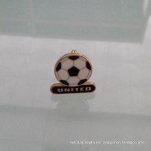 Pin de solapa de forma de fútbol, insignia especial de encargo (GZHY-LP-010)