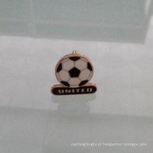 Pin da lapela da forma do futebol, emblema especial feito sob encomenda (GZHY-LP-010)
