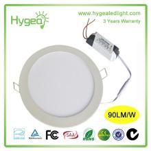 Prix de l'usine en Chine 6w AC85-277V conduit panneau de lumière en gros 85-95LM / W led panneau / ronde led panneau lumière prix