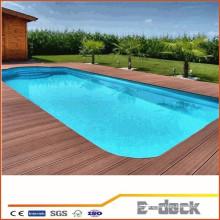 À prova d'água piso varanda madeira decking plástico sulco piscina wpc chão