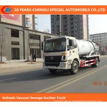Caminhão da sucção da água de esgoto do vácuo 6wheels