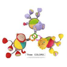 Fábrica de fornecimento de bebê Plush Stuffed Movimento Musical Pull Toy