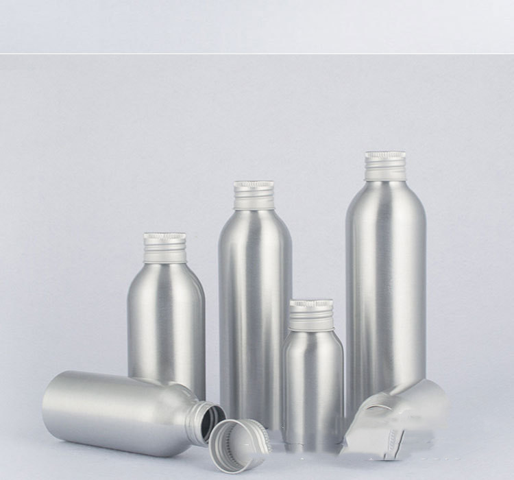 Aluminum bottle cosmetic bottle with aluminum cap screw