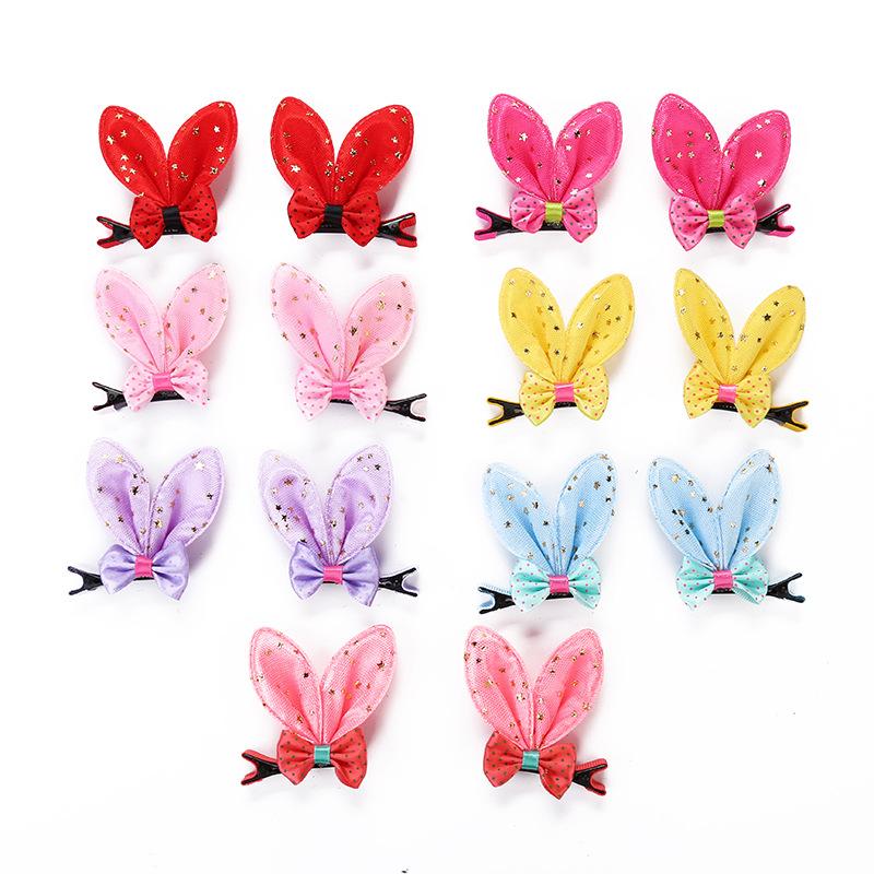 Bow tie rabbit ear hairpin rabbit ear clip