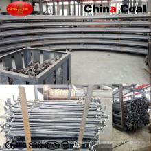 L'usine produit le support d'arceaux en acier U29 pour la ruelle de mine