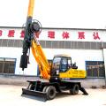 Hydraulic bore pile driver machine